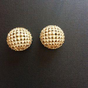Vintage ST. JOHN rhinestone clips earrings.